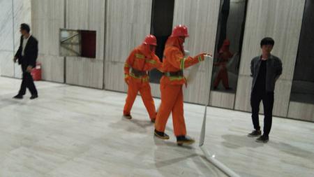 港之龙大厦消防应急预案演练工作