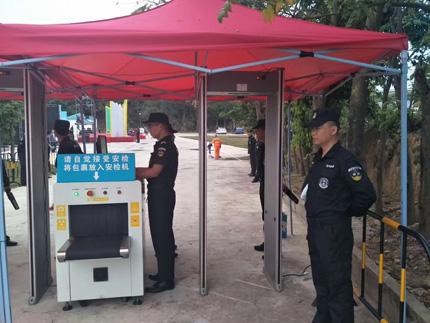 2018深圳径口微型马拉松比赛保安护卫现场