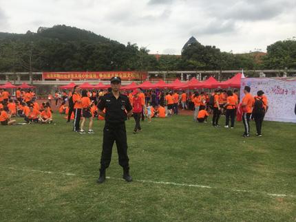 与爱同行——第二届宝安慈善微跑活动安保护卫