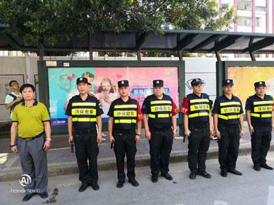 我司保安精英为深圳巡一段做贡献日常