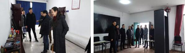 四川省保安协会领导干部考察保安员职业技能考场