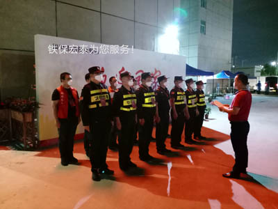 深圳铁保宏泰保安公司加入社区治安巡逻队保居民平安