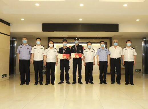北京保安协会对东城分公司保安员进行现场表彰