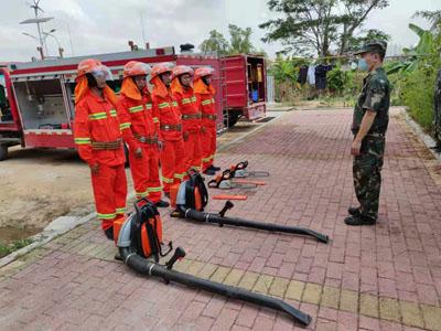 深圳市龙华区民治森林防火中队演练提升队伍实战水平